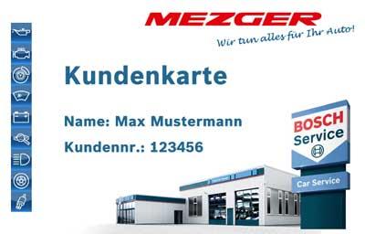 Mezger Bosch Kundenkarte