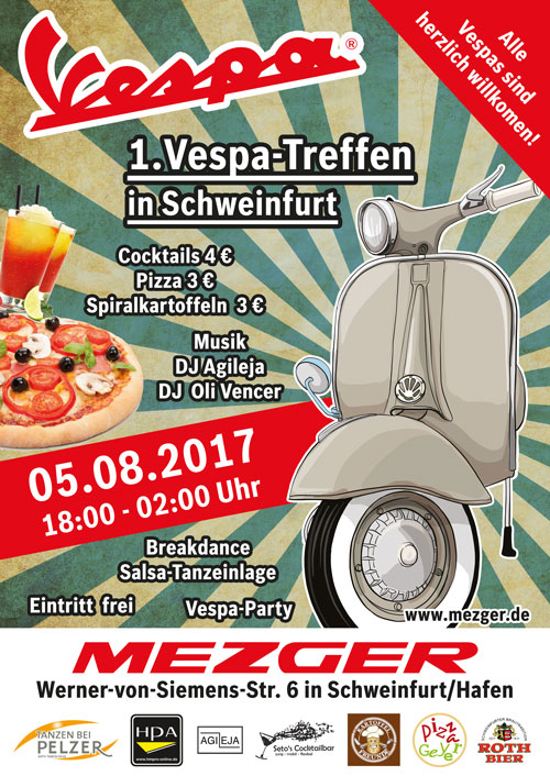 Vespa Treffen in Schweinfurt 05.08.2017 Plakat