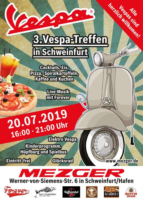 3. Vespa Treffen in Schweinfurt 20.07.2019 Plakat